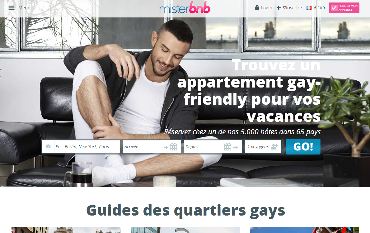 Publicité Gay Friendly MisterBnB