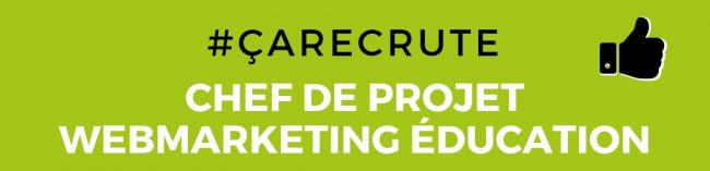Vu du Web recrute chef de projet webmarketing education