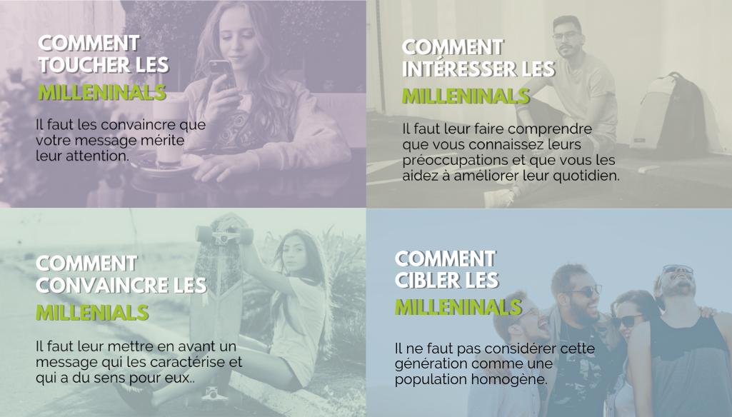 les principaux points sur les millennials